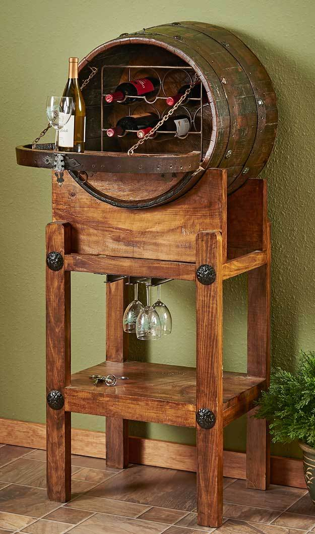 Wine Barrel Serving Station