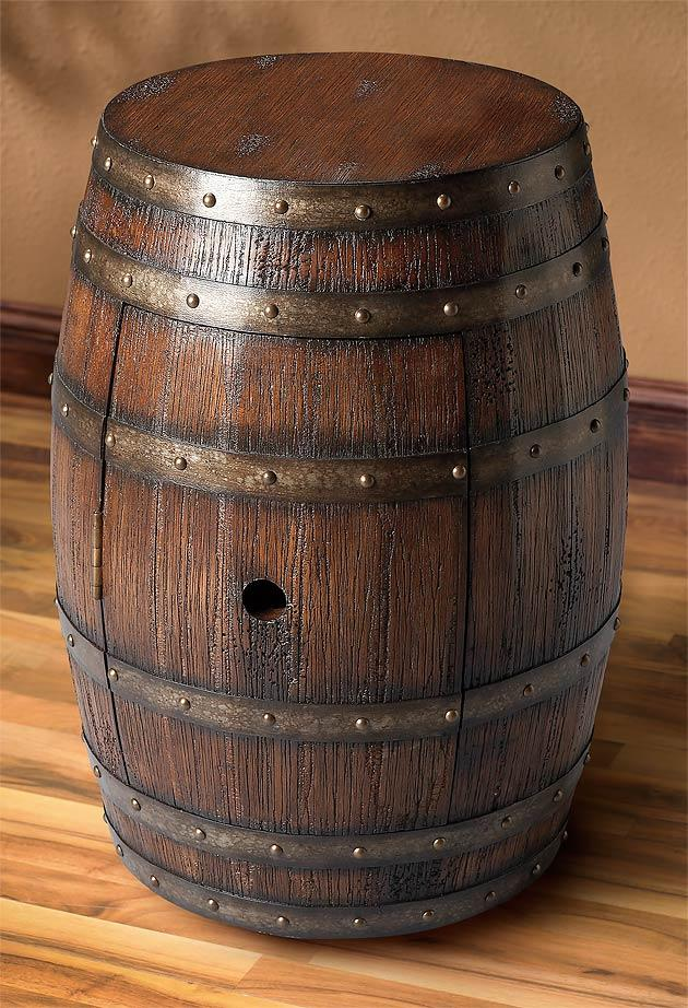 Dark Brown Barrel.