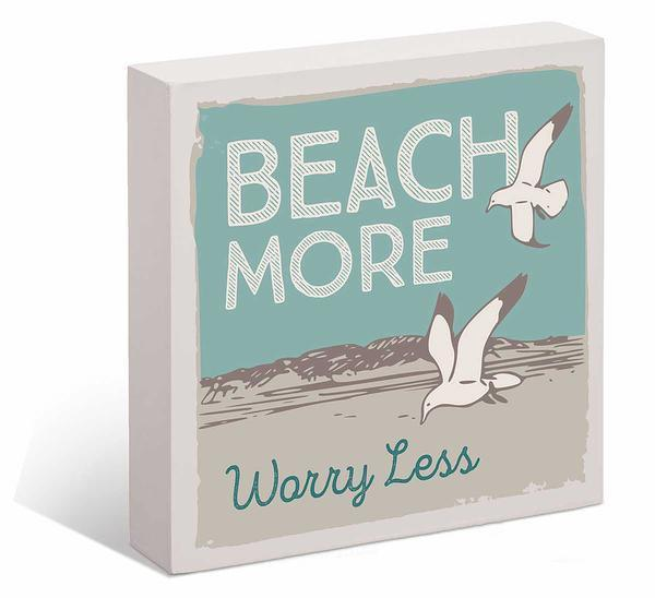 Beach More Worry Less 6 X Box Art Sign