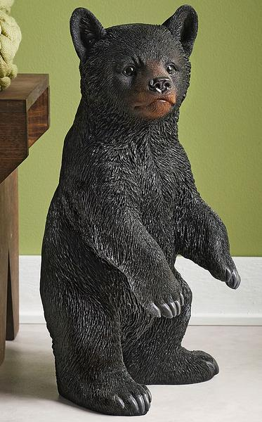 Standing Bear Cub Sculpture