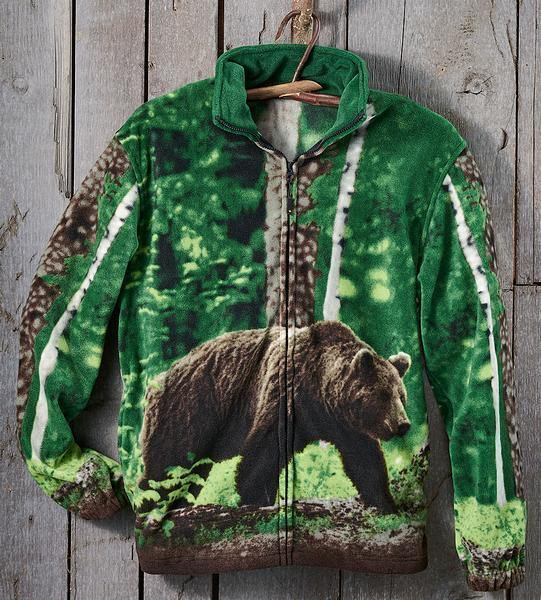 Bear Green Fleece Jacket