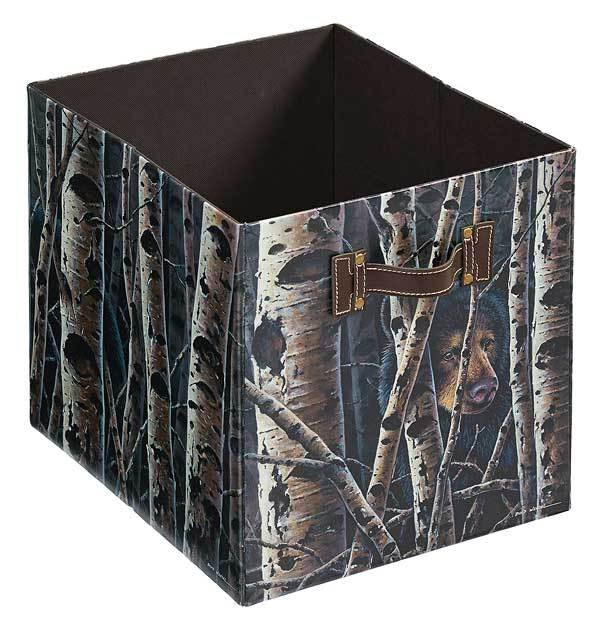 <I>Black Bear</i> Folding Storage Bin