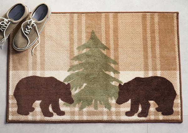 Bear Plaid Area Rug