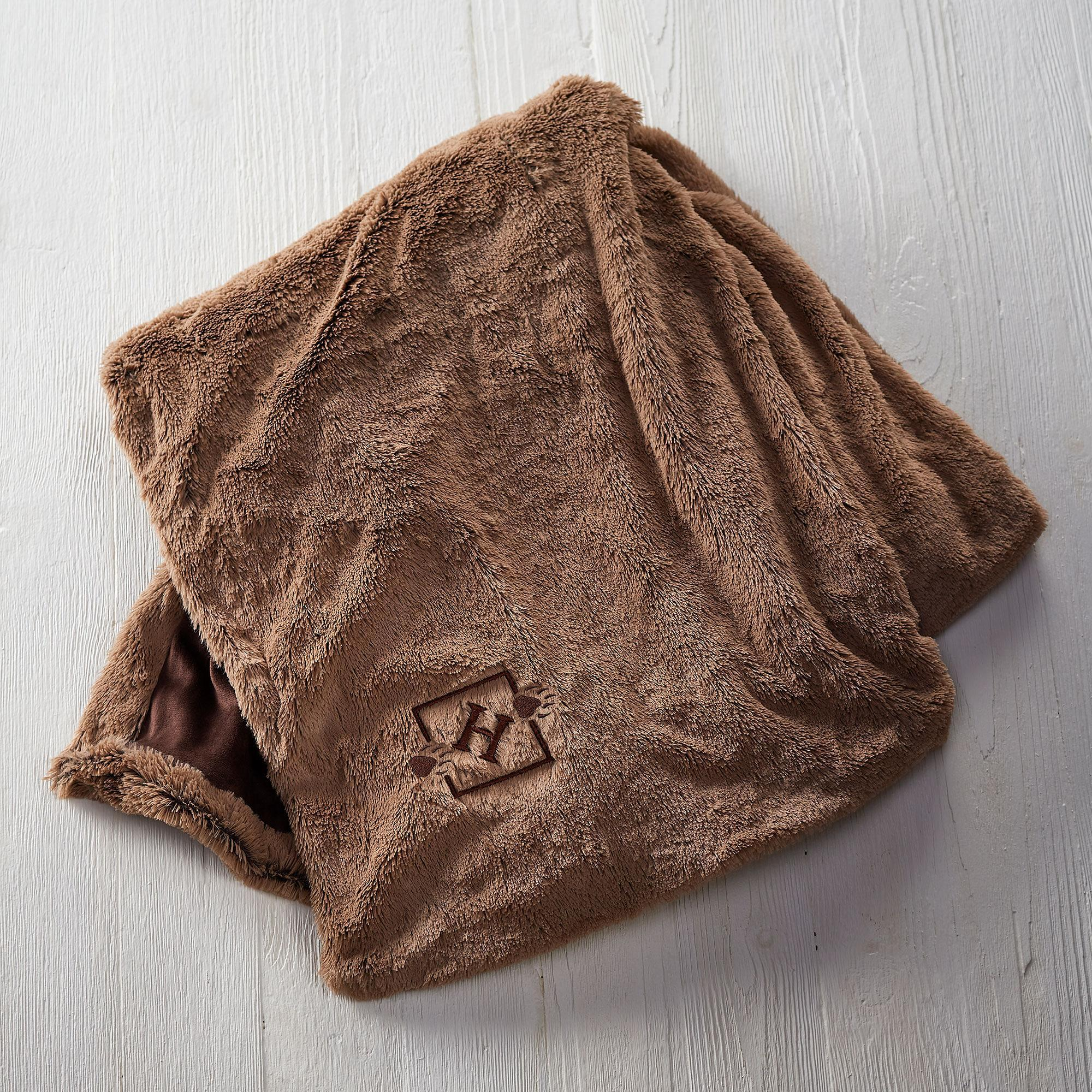 Bear Tracks Personalized Throw Blanket