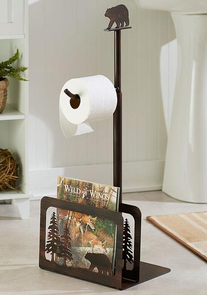 Bear In Pines Toilet Paper Holder