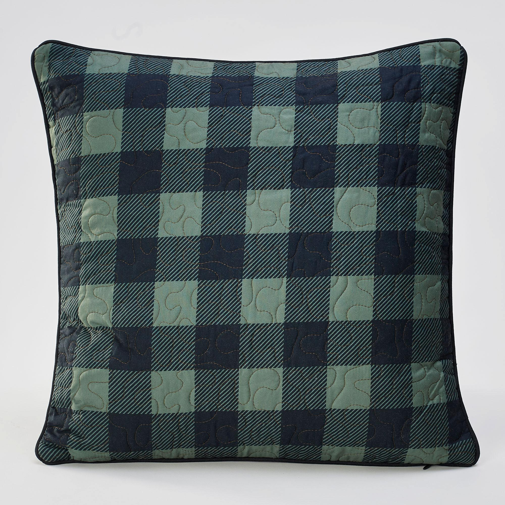 Walk the Path-Bear-Plaid Check Pillow
