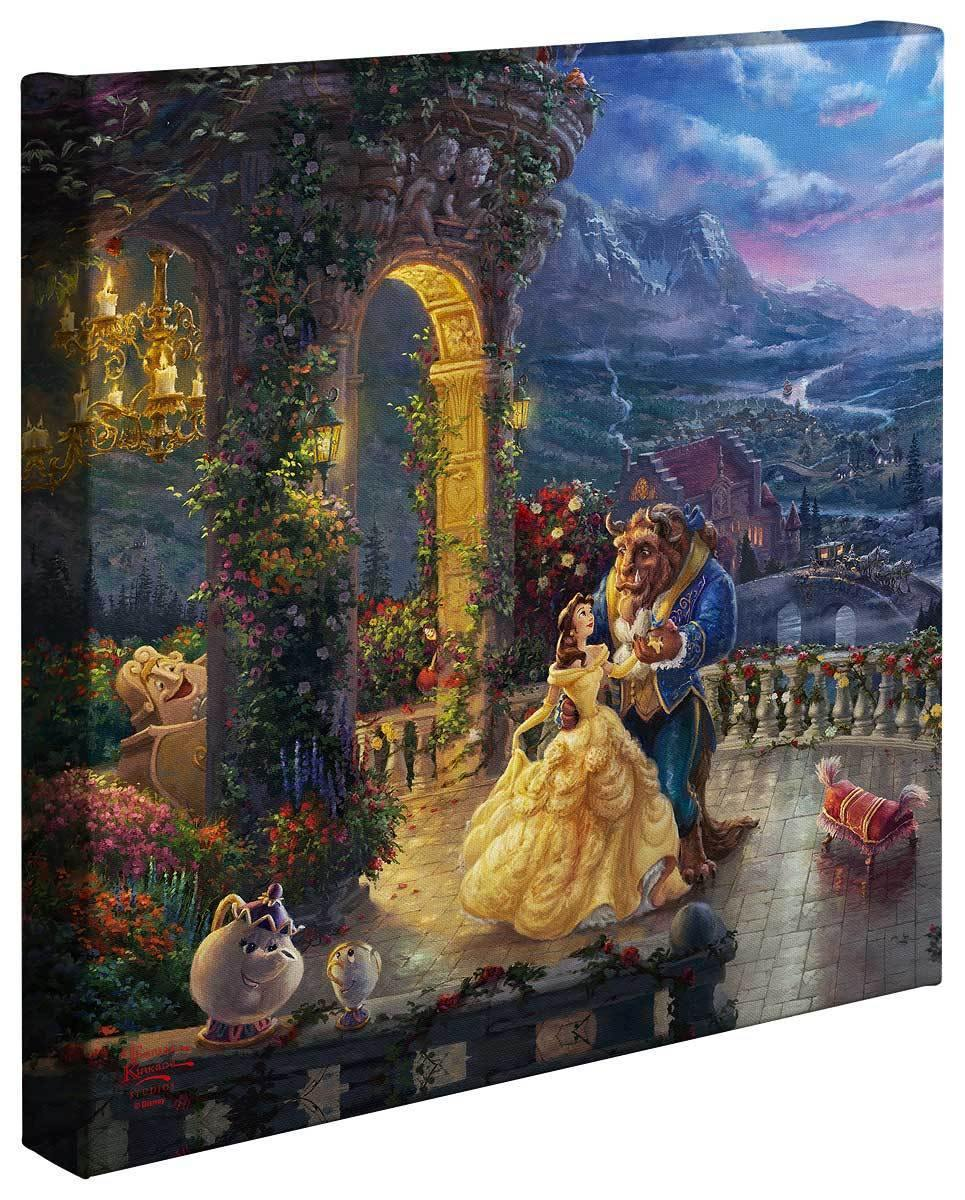 <I>Beauty And The Beast Dancing In Moonlight</i> Gallery Wrapped Canvas