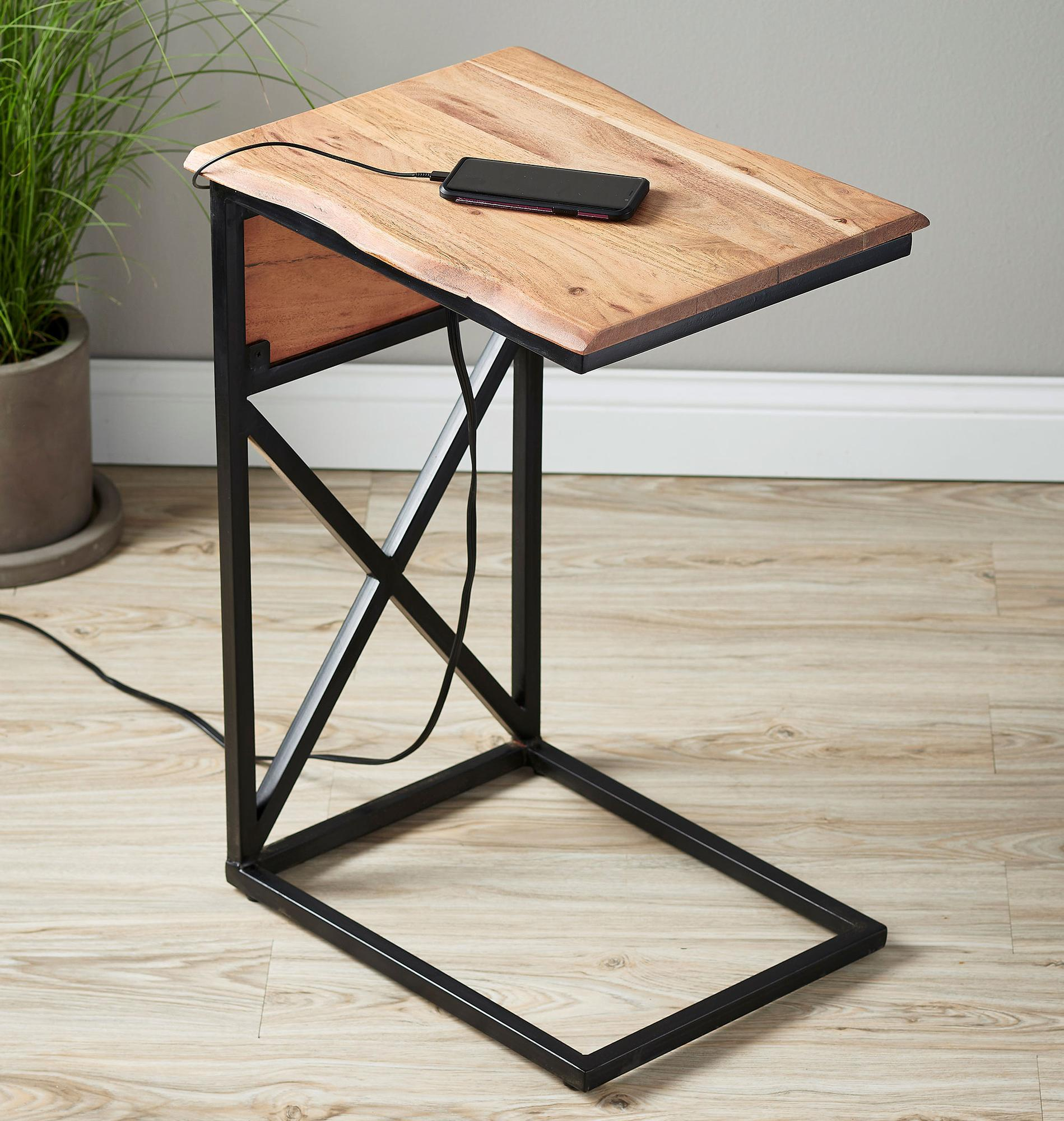Natural Live Edge Side Table