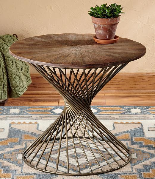 Twist Metal Accent Table