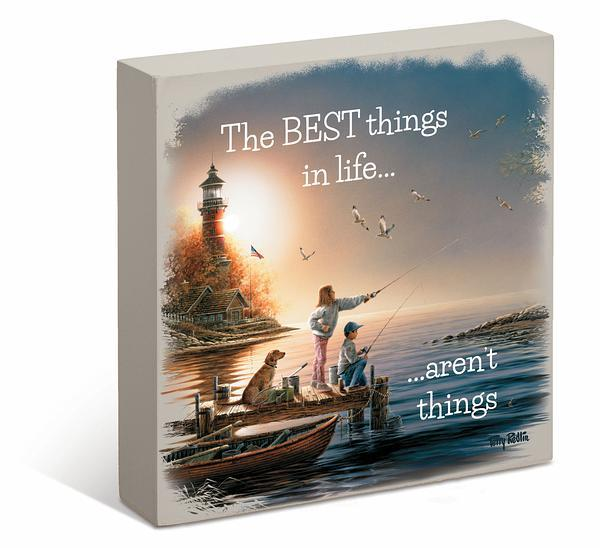 <I>The Best Things In Life...arent Things</i> 6 X Box Art Sign