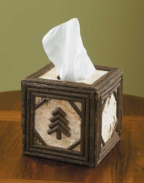 Birch And Twig Tissue Box Cover