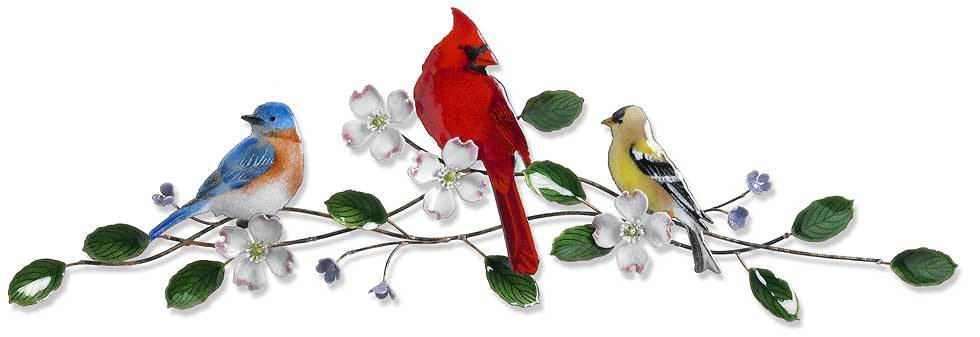 Songbirds on Dogwood.