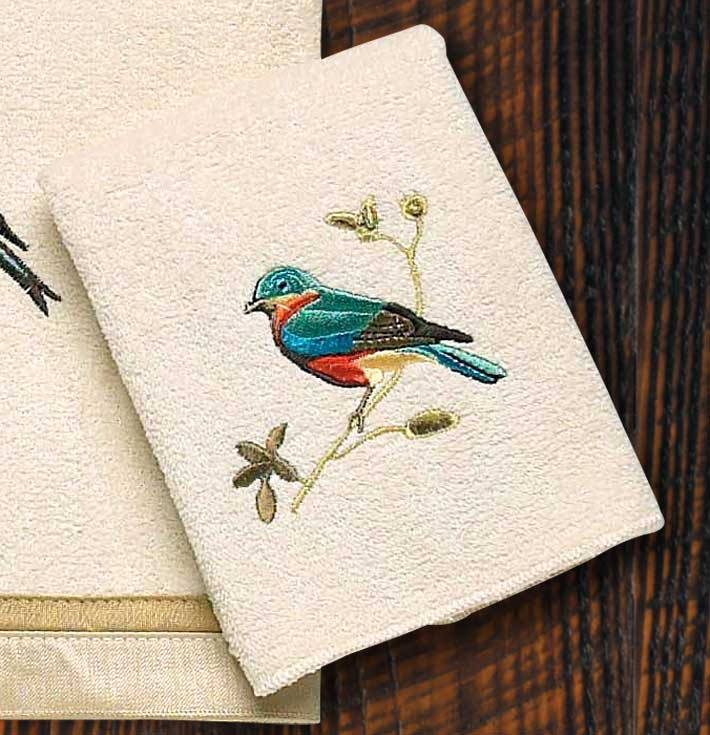 Gilded Birds Wash Cloth