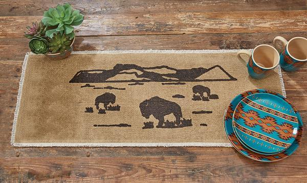 Bison Table Runner
