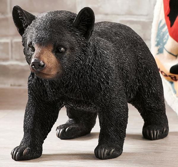 Walking Bear Cub Sculpture