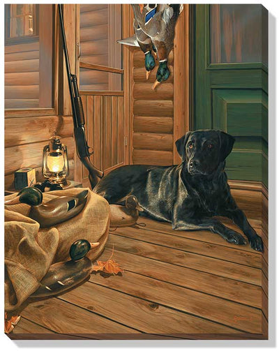 Bountiful Day-Black Lab Art Collection