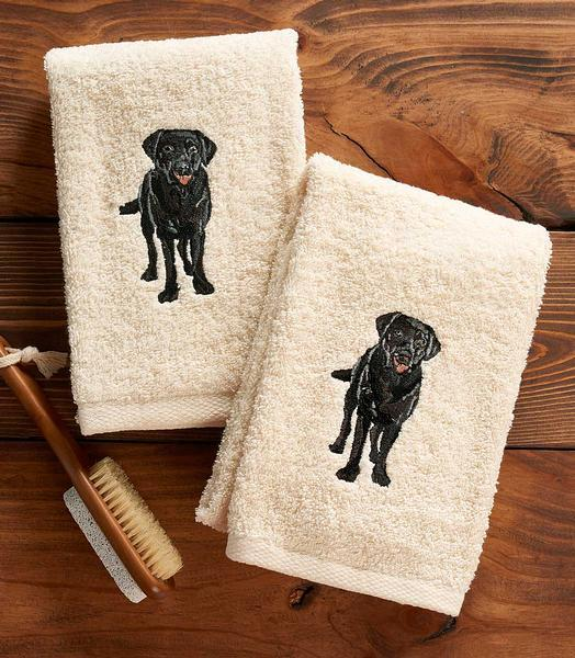 Black Lab Hand Towel