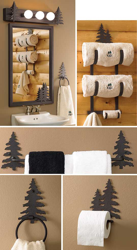 Black Pine Tree Bath Accessories