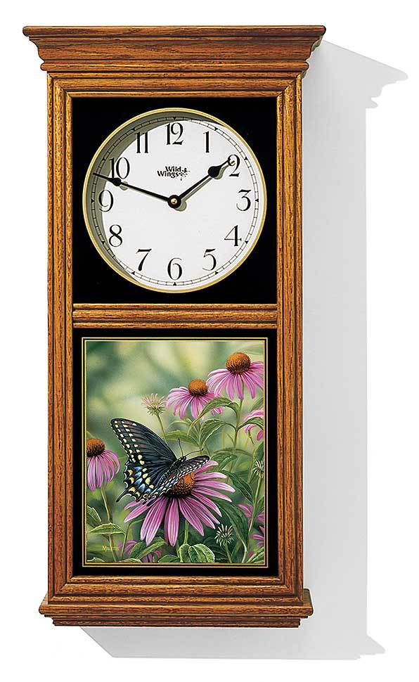 <I>Black Swallowtail Butterfly</i> Regulator Clock