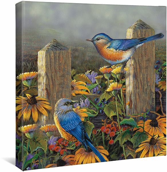<I>Bluebirds</i> Gallery Wrapped Canvas