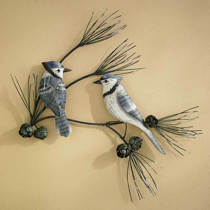 Blue Jay Pair Wall Sculpture