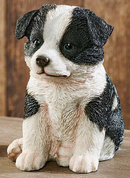 Border Collie Puppy Sculpture