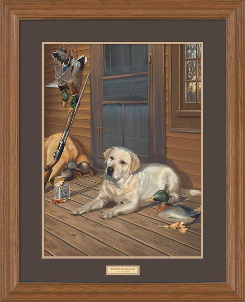 <I>Bountiful Day&mdash;yellow Lab</i> Gna Premium Framed Print<Br/>31H X 25W Art Collection