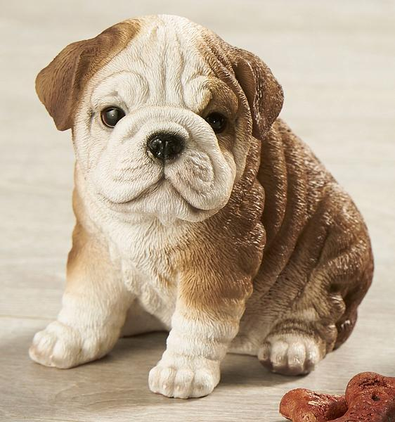 Bulldog Puppy Sculpture