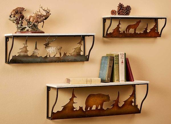 Scene Of The Northwoods Wall Shelf