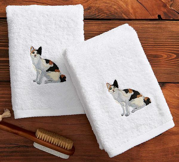Calico Cat Hand Towels