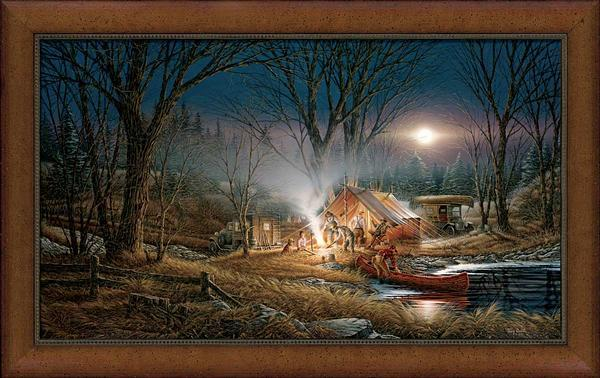 Campfire Tales Framed Museum Canvas