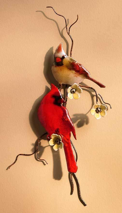 Cardinals Enamel Wall Art