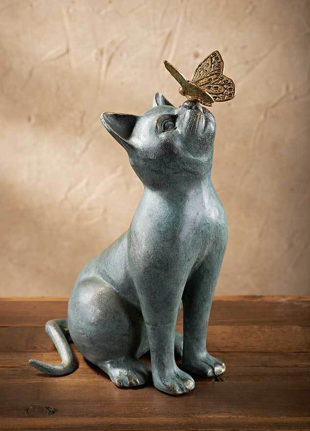 Cat & Butterfly Sculpture