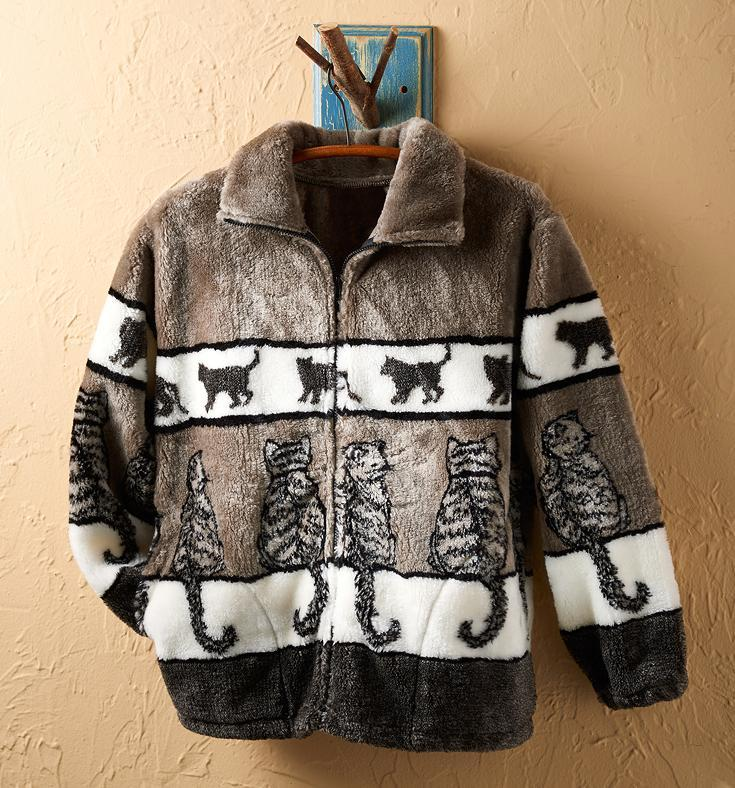 Cats Fleece Jacket