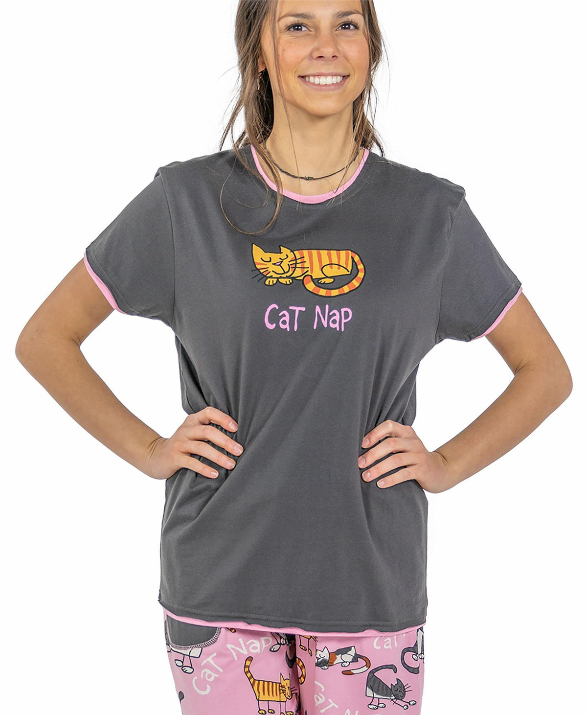 Cat Nap Pajama T-Shirt