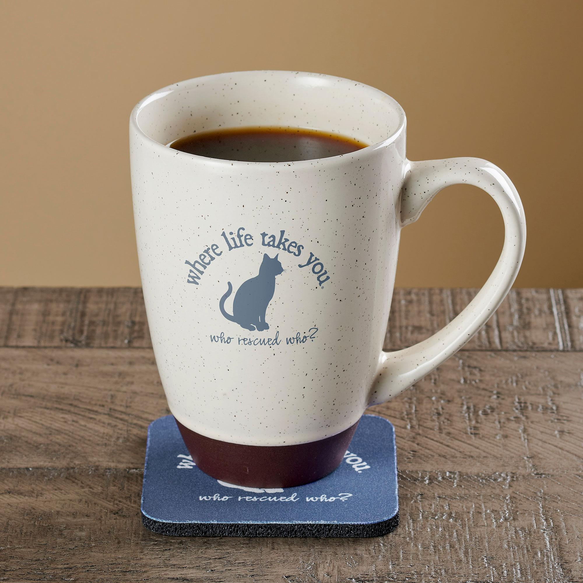 Ode To The Cats Latte Mug and Coaster