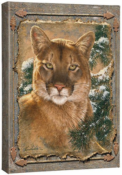 <I>Caught By The Light&mdash;cougar</i> Gallery Wrapped Canvas