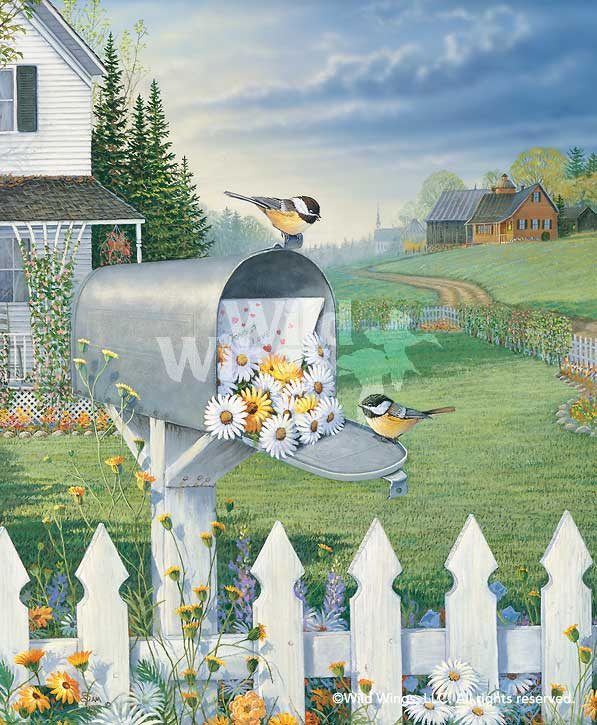Special Delivery-Chickadees Art Collection