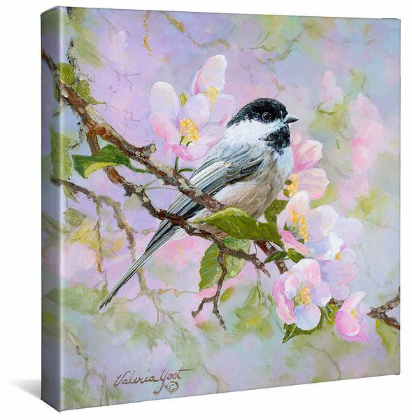 Chickadee Gallery Wrapped Canvas
