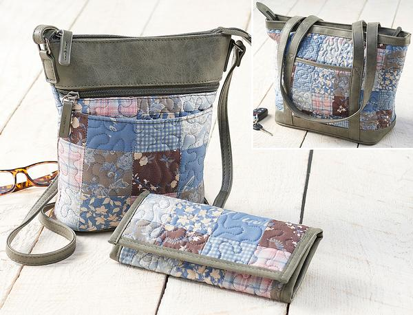 Chicory Gingham Bag & Wallet Collection