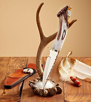 Chief And Feather Decorative Knife