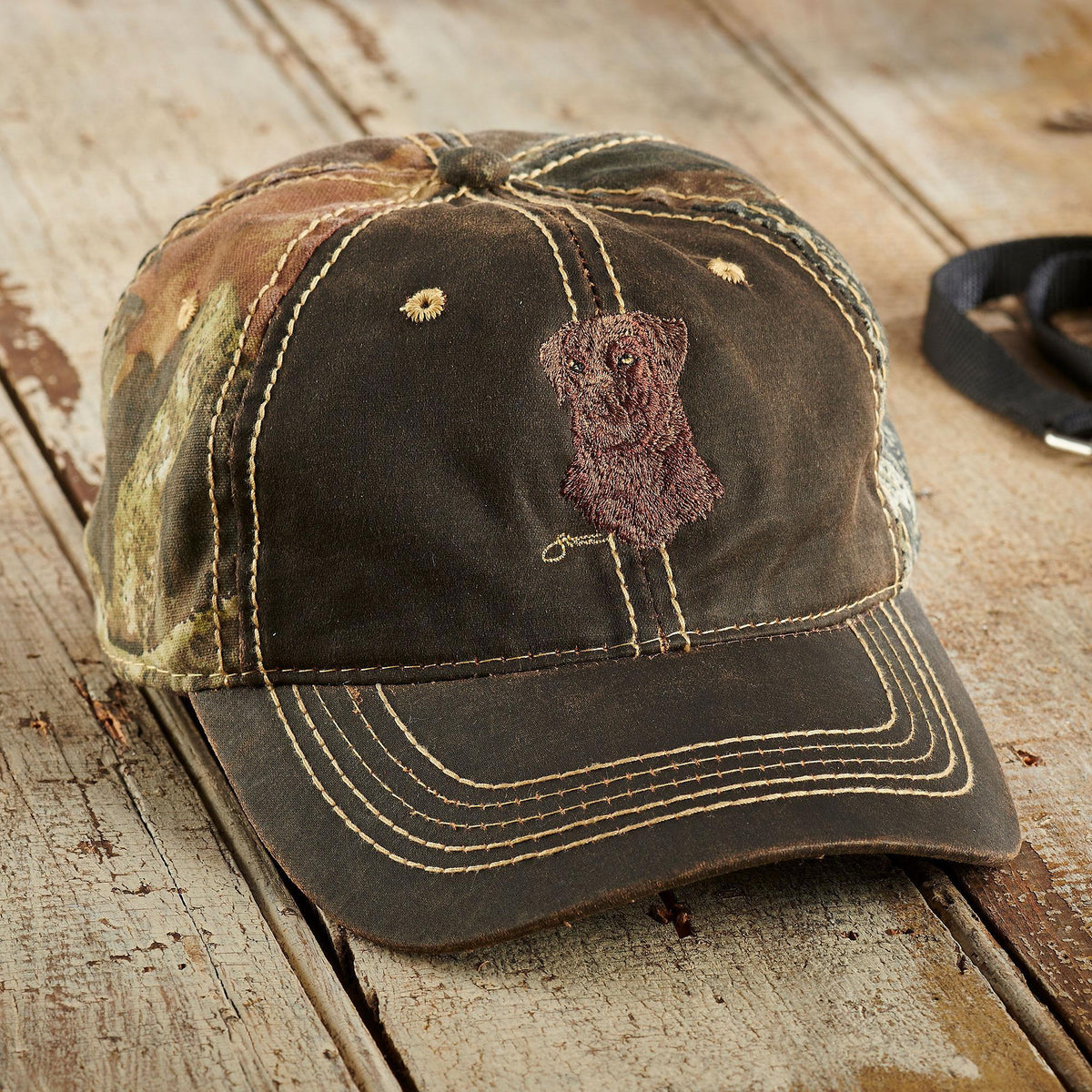 Chocolate Lab Personalized Cap