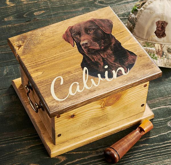 <I>Chocolate Lab Sporting Dog</i> Personalized Storage Chest