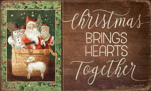 Christmas Brings Hearts Together.