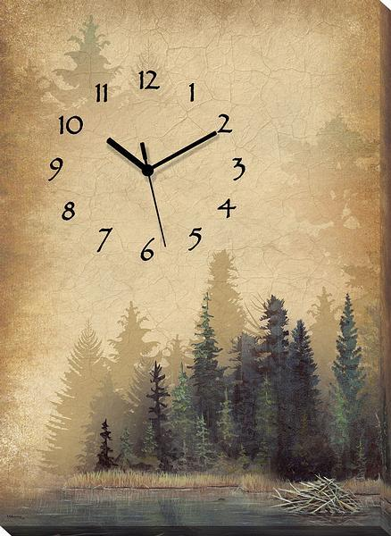 <I>Misty Forest</i> Canvas Clock