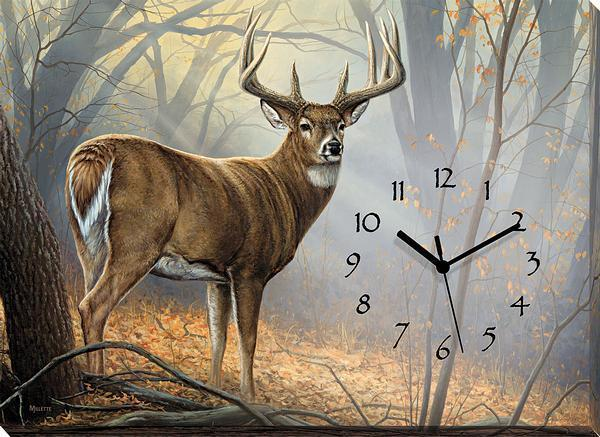 <I>In His Prime&mdash;whitetail Deer</i> Canvas Clock