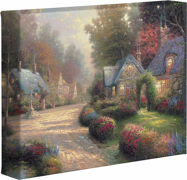 Cobblestone Lane Gallery Wrapped Canvas