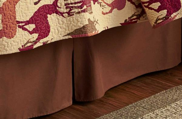 Brown Bedskirt