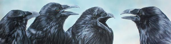 <I>Conspiracy Theory&mdash;ravens</i> Limited Edition Canvas<Br/>9H X 34.5W Art Collection