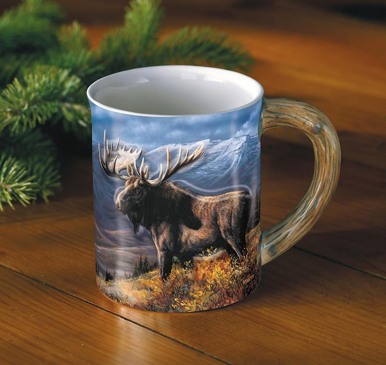 <I>Moose</i> Sculpted Mug